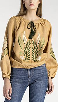 Блуза с вышивкой Etnodim на резинке, фото
