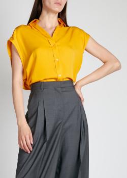 Желтая блузка Nina Ricci с завязкой на спине, фото