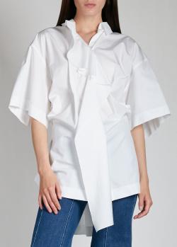 Белая блузка Nina Ricci с оборками, фото