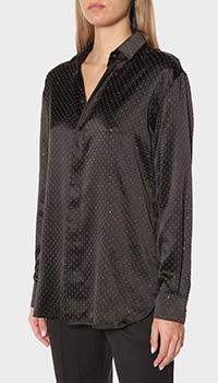 Рубашка Saint Laurent из шелка черного цвета, фото