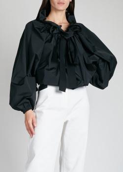 Черная блузка Patou с пышными рукавами, фото