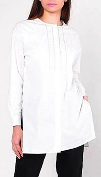 Белая блуза Peserico с разрезами по бокам, фото