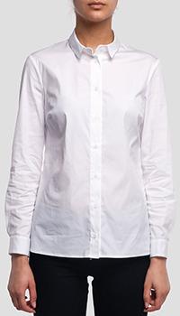 Белая рубашка Peserico со стразами на воротнике, фото