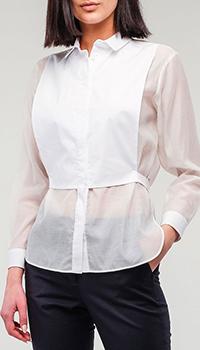 Белая блуза Peserico с хлопковой вставкой, фото