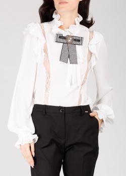 Белая блузка Silvian Heach с кружевом, фото