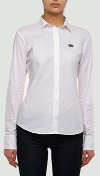 Белая рубашка Philipp Plein с длинным рукавом, фото