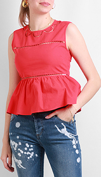 Блузка Red Valentino красного цвета, фото