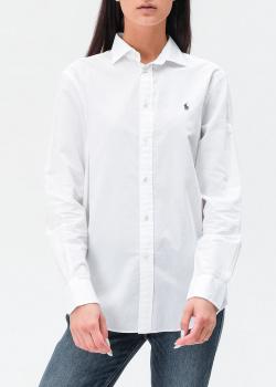 Белая рубашка Polo Ralph Lauren с фирменной вышивкой, фото