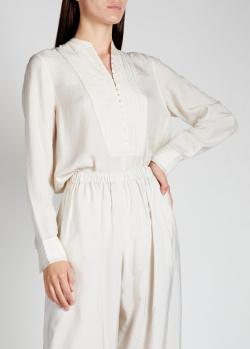 Шелковая блузка Rag & Bone в тонкую полоску, фото