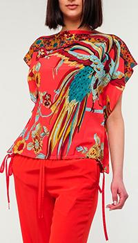 Шелковая блузка Red Valentino с принтом, фото
