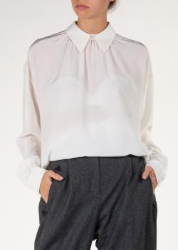Шелковая блуза Rochas белого цвета, фото