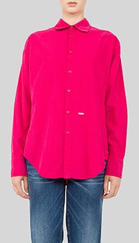 Розовая рубашка Dsquared2 прямого кроя, фото