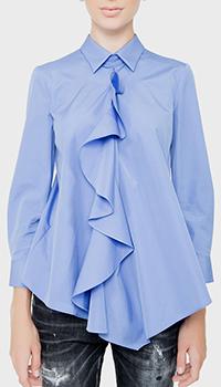 Синяя блузка Dsquared2 с длинными рукавами, фото