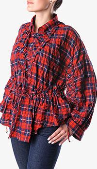 Клетчатая рубашка Dsquared2 с кулиской на талии, фото