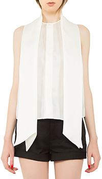 Белая блуза Dsquared2 с коротким рукавом, фото