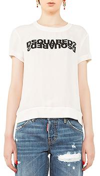 Блуза Dsquared2 с логотипом, фото