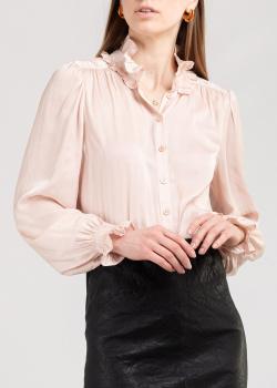 Бежевая блуза Zadig & Voltaire длинным рукавом, фото