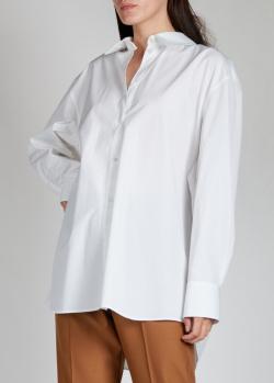 Белая рубашка Nina Ricci с логотипом на спине, фото