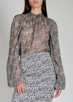 Шелковая блузка Rochas с пышными рукавами, фото