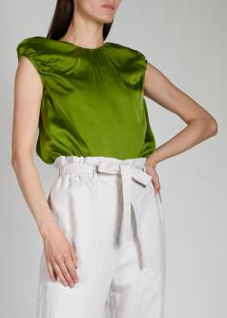 Зеленый топ Rochas с декором на спине, фото