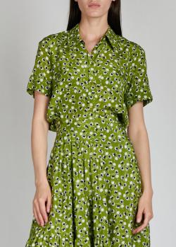 Шелковая рубашка Rochas с цветочным принтом, фото