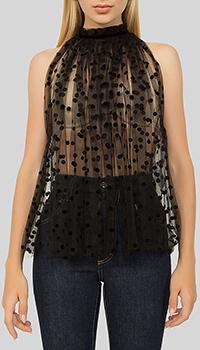 Блузка N21 из фатина черного цвета, фото