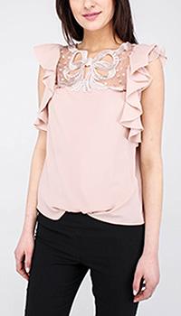 Бежевая блуза Blumarine с воланами, фото