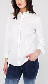 Хлопковая рубашка Peserico белого цвета, фото
