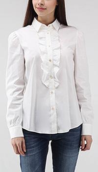 Белая рубашка Red Valentino с рюшами, фото