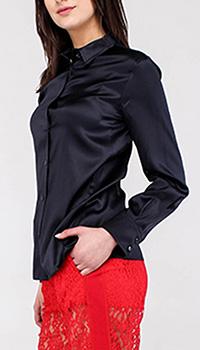 Шелковая блуза-рубашка Emporio Armani с длинным рукавом, фото
