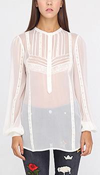 Прозрачная блуза Ermanno Ermanno Scervino из шелка, фото