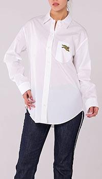 Коттоновая рубашка Kenzo белого цвета, фото