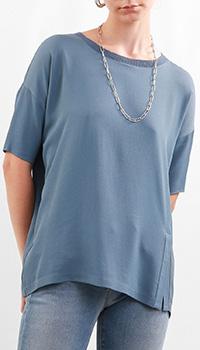 Синяя блуза Fabiana Filippi прямого кроя, фото