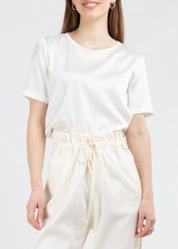 Шелковый топ Fabiana Filippi в белом цвете, фото