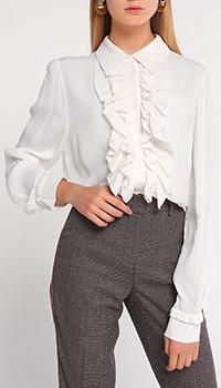 Блузка Twin-Set белого цвета с жабо, фото