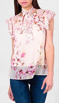 Тонкая блуза Twin Set с цветочным рисунком, фото
