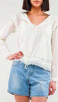Белая рубашка Twinset с длинным рукавом, фото