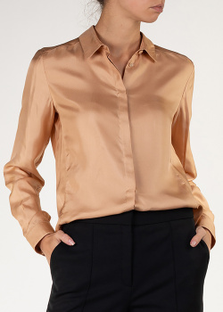 Золотистая блуза Agnona с длинным рукавом, фото