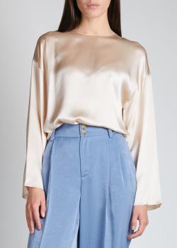 Шелковая блузка Vince молочного цвета, фото