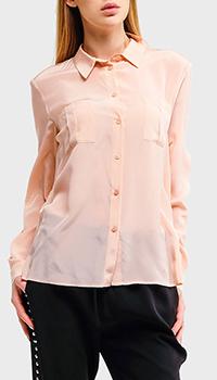 Розовая рубашка Liu Jo с карманами из шелка, фото