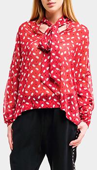 Красная блузка Liu Jo оверсайз с принтом, фото