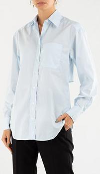 Голубая рубашка Zadig & Voltaire с разрезом на спине, фото