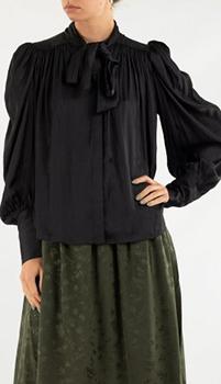 Черная блуза Zadig & Voltaire с бантом, фото