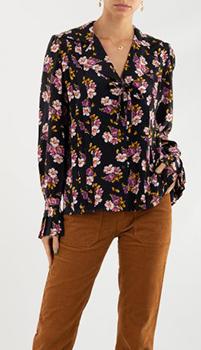 Шелковая блуза Zadig & Voltaire со складками, фото