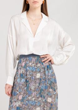 Белая блузка Zadig & Voltaire с отложным воротником, фото