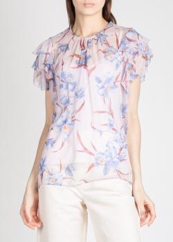 Шелковая блузка Zimmermann с цветочным принтом, фото