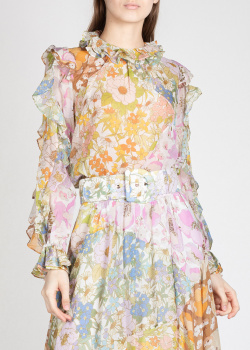 Шелковая блузка Zimmermann с рюшами, фото