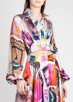 Шелковая блузка Zimmermann с пышными рукавами, фото