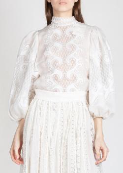 Льняная блузка Zimmermann с узором, фото