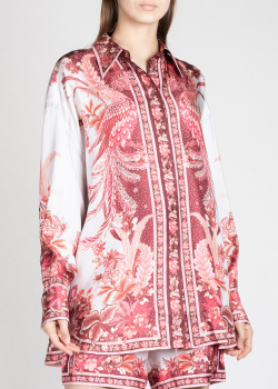 Шелковая блузка Zimmermann с изображением феникса, фото